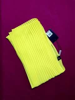 Blum Yellow pleated scarf
