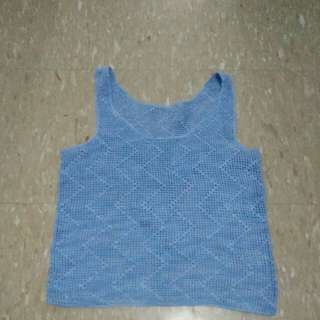 Blue sleeveless cover up