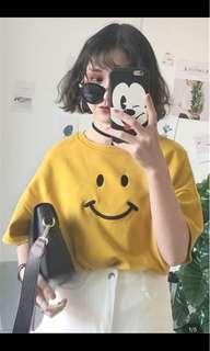 [P.O] Korean Ulzzang Smiley Face Tee