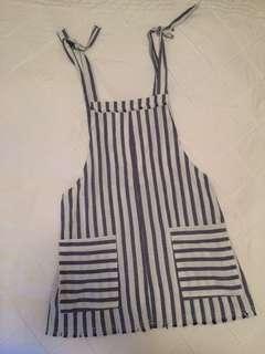 Summer linen style Overall dress