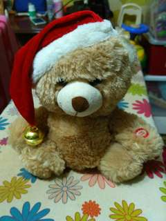 Christmas teddy bear with song
