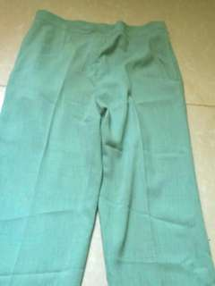 Green slacks pants