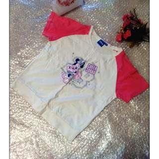 夏天 Misney 米奇 米妮 短袖 T恤 女生 女童小孩 兒童 尺吋10  大班至小二