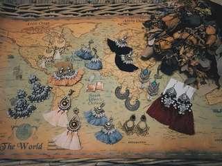 Tassel boho dangle statement earrings