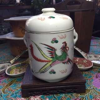 Vintage Dragon & Phoenix Double Boiler