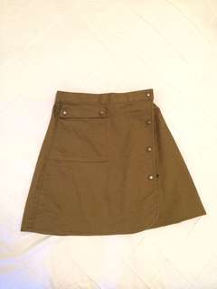 The Fifth Label khaki high waist skirt