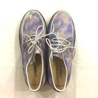 Galaxy Abstract Pastel Paddlepop Tie Dye Creepers Sneakers