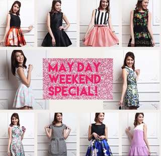 SALE!! May Day / Labour Day Special