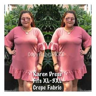 NEW!! Karen Plain Dress (PREORDER/ XL--3XL)