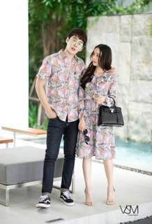 Couples set ; shirt and dress