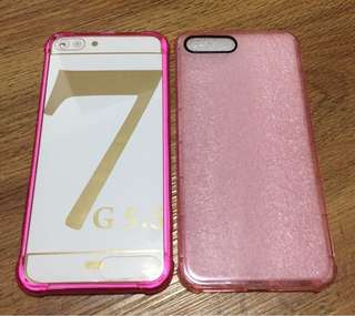 2for80 Pink Shockproof Cases for Iphone 7plus