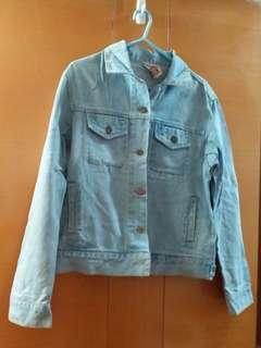 淺藍牛仔外套(適合中碼至大碼)