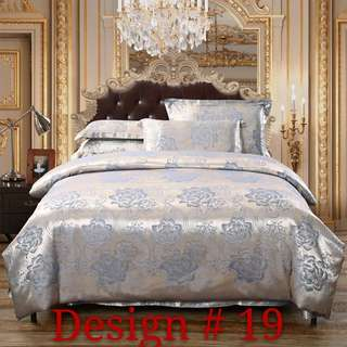 Ready stocks : 4 piece silk bedsheets set / quilt cover
