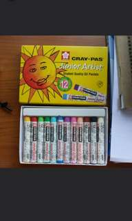 Sakura Cray-Pas Junior Artist Student Quality Oil Pastels 12 Colours