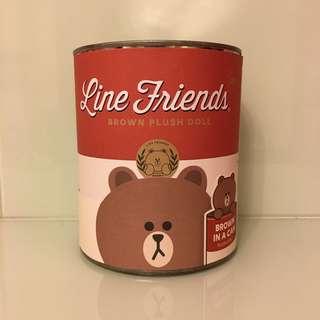 *全新* Line Friends Brown Plush Doll In A Can