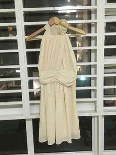 Dreamy Cream Beige ROM Classy Dress Feminine Princess