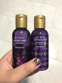 Innis Free Body Lotion & Cleanser