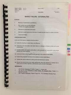 H1/h2 year 1 economics notes set