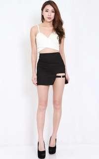 Carrislabelle side ring slit skirt