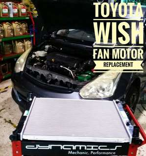 Toyota Wish ZGE10 : Radiator Replacement