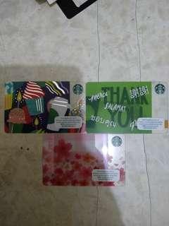 Starbucks Card 三張