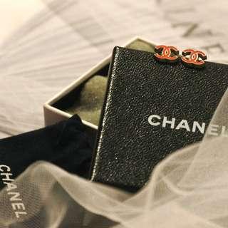 Chanel Logo Earring (RED)
