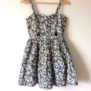 Temt Floral Dress Size 8