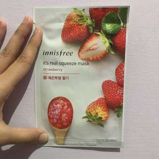 Innisfree Strawberry Sheet Mask