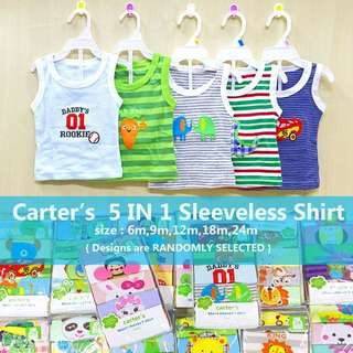 Carter's 5 IN 1 sleeveless Shirt set