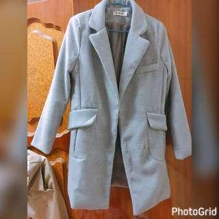 🚚 灰色大衣外套 含運