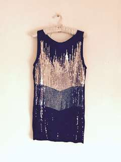 MANGO Stunning Tricolored Sequin Top (Long)