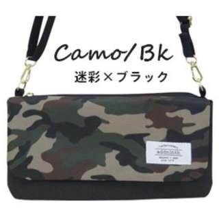 🚚 [河馬大大] 現貨日本進口Addninth多功能肩背側背手拿包 觸控手機包-迷彩