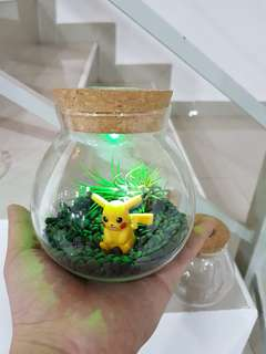 Glass Container with led light