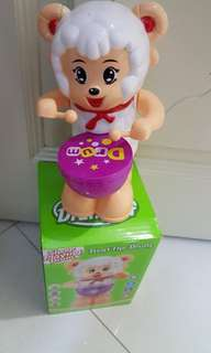 Baby Toy Sheep Playing Drum