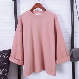 Women T-Shirt Loose Plain