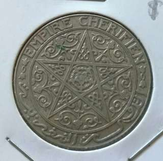 Morocco 1921 Franc Coin With Good Details.Diameter 27.2mm