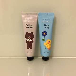 (包郵) *全新* Missha x Line Friends Brown Sally Hand Cream