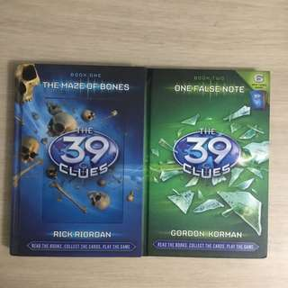 The 39 Clues Book #1-2 by Gordon Korman + Card Pack