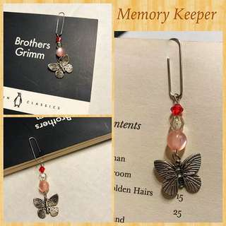 Handmade Dangly Charm Paperclip Bookmark