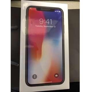 全新未開封 iPhone X 64gb Space Grey / Silver 太空灰 黑色 / 白色 銀色 iPhoneX 64 Black White 64g i Phone Apple 有單