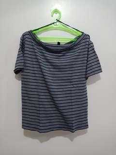 Uniqlo boat neck blouse