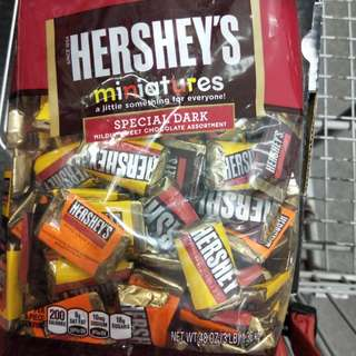 🚚 HERSHEY'S 迷你黑巧克力塊
