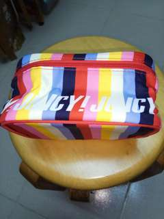 Juicy Couture colourful cosmetic zipper case