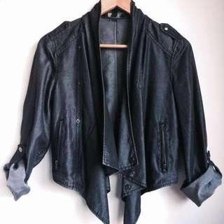 Just Jeans Dark Grey Jacket Size 8