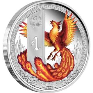 Mythical Creatures – Phoenix 2013 1oz Silver Proof Coin from The Perth Mint