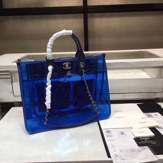 Chanel PVC shopping tote bag