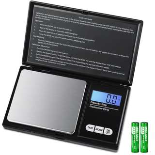 New Portable Mini Jewelry Gold Digital gram Scale Digital LCD Electronic Kitchen Cooking Food Weighing Scales Weigh Gram Pocket Grams Food Jewelry Medicine Tea Black