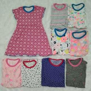 Dress Anak Rempel 1 - 3 Tahun / Baju Anak Perempuan / Gaun Anak Cewek
