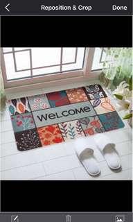 1046) 進門歡迎入戶玄關門口除塵防滑薄款腳墊 歐式家用隔水地墊
