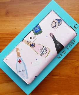 Kate Spade Finer Things Champagne Print Stacy Medium Wallet